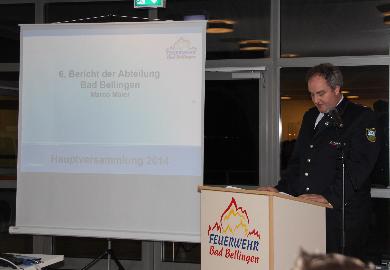 Auch Abteilungskommandant Maier über den kameradscahftlichen Teil in der Feuerwehr. So wurde ein Frühlings-Brunch, ein Grillefest im Sommer und ein Ausflug in den Schwarzwald durchgeführt.
